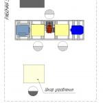 Схема расположения элементов стенда